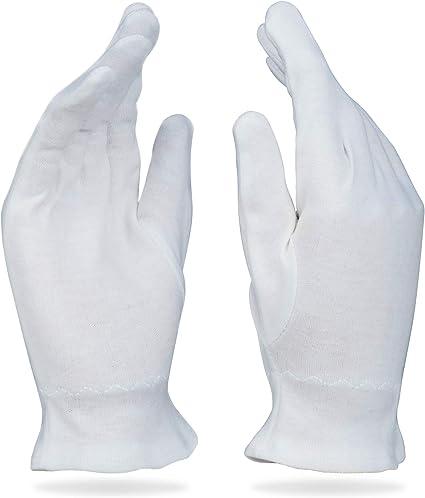 Care Wear Guantes Blancos De Algodón Tamaño Grande Para Eccema ...