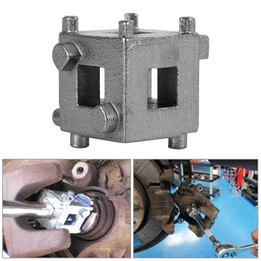 Pistone Del Freno A Disco Acciaio Al Carbonio Argento Car Rear Disc Brake Pistone Retractor Tool Cube Brake Piston