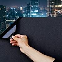 Static Cling Total Blackout Window Film 100% UV Blocking Window Darkening Film Best Black Window Tint Removable Plastic…