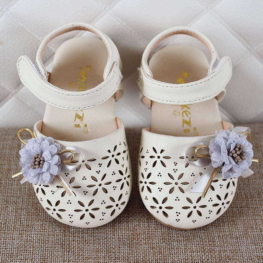 6dd8ec0dd5feb Infant Kids Bébé Filles Elegant Fleur Sandales Hallow Princesse Chaussures  Bébé Chaussons Bébé Chaussons Cuir Souple ...