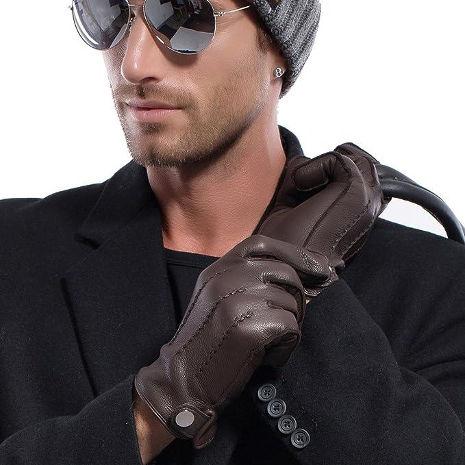 0e8dd6ac369 MATSU Men Winter Warm Deerskin Leather 100% Cashmere Lined Gloves M1066   Amazon.ca  Jewelry