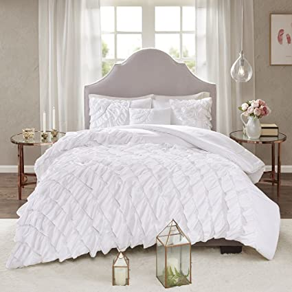 Amazon.com: Madison Park Octavia 4 Piece Ruffled Comforter Set