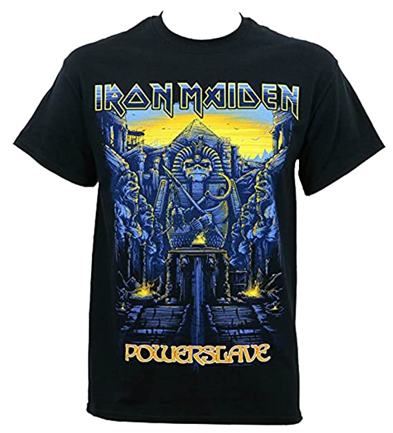 cd72e7b42 Iron Maiden Men's Dark Ink Powerslave T-Shirt: Amazon.ca: Clothing ...