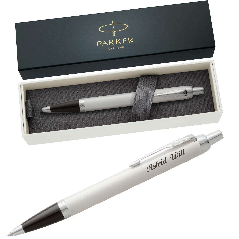 PARKER Kugelschreiber IM Matte Blau C.C. 1931668 mit persönlicher Laser-Gravur B074CJK2SH | Vielfältiges neues Design