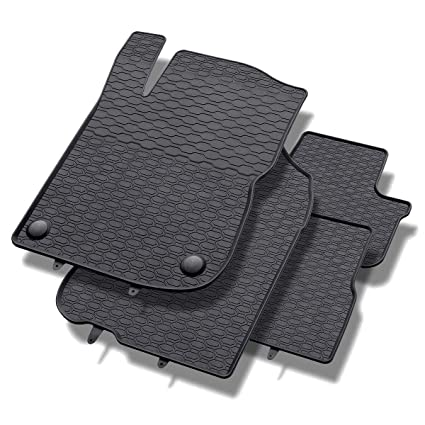 un ajuste perfecto 4-piezas 5902538449052 negro Alfombrillas de goma