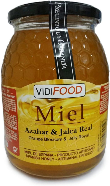 Miel de Azahar con Jalea Real - 1kg - Producida en España - Estimulante y altamente nutritiva - Aroma Floral Intenso y Sabor Fuerte y Dulce: Amazon.es: Alimentación y bebidas