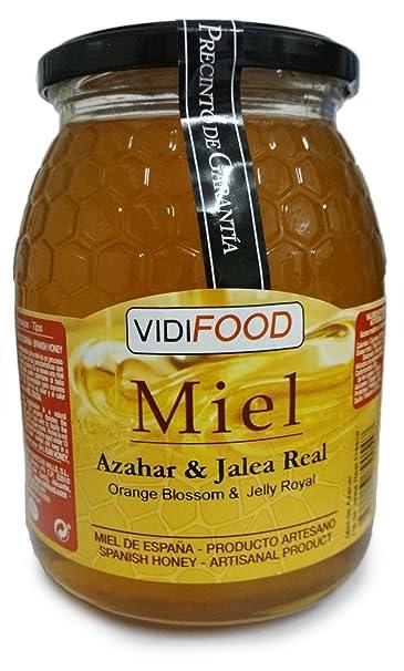 Miel de Azahar con Jalea Real - 1kg - Producida en España - Estimulante y altamente