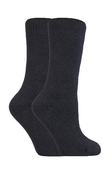 Heat Force - 2 Paar Mujer el Invierno Caliente de Espesor Calcetines Térmicos (Negro)