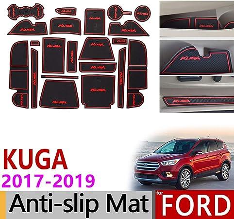 AniFM Fodera per Porta a Slitta in Gomma Fessura in Lattice Cuscino per Cuscino Antipolvere Interno per Ford KUGA 2017 2018 2019 Ford Escape MK2 Adesivi per Auto 21 Pezzi 1 Set,Blue