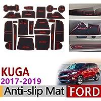 red Gate slot Mats F/ür Insignia B MK2 Interior Door Pad Car Cup Holders Non-slip mats Antirutschmatten 2017-2019