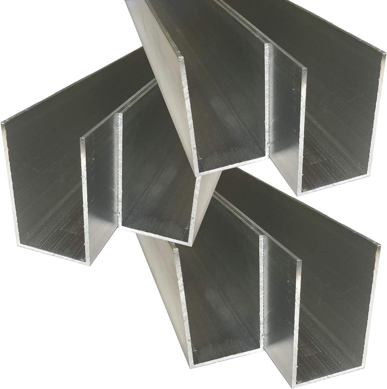 50 cm Alu U-Profil 65 x 40 x 65 x 2,0 mm Aluminium AlMgSi0,5 U-Stab Profil Aluprofil U-Stange