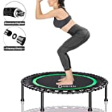 Darchen 450 lbs Mini Trampoline for Adults, Indoor Small Rebounder Exercise Trampoline for Workout Fitness for Quiet and Safe