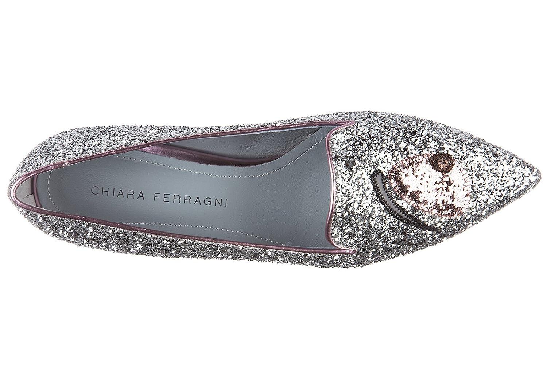 Chiara Ferragni Damen Ballet Flats Ballerinas Silber EU 39 CF1431   Amazon.de  Schuhe   Handtaschen 30fb06ba69
