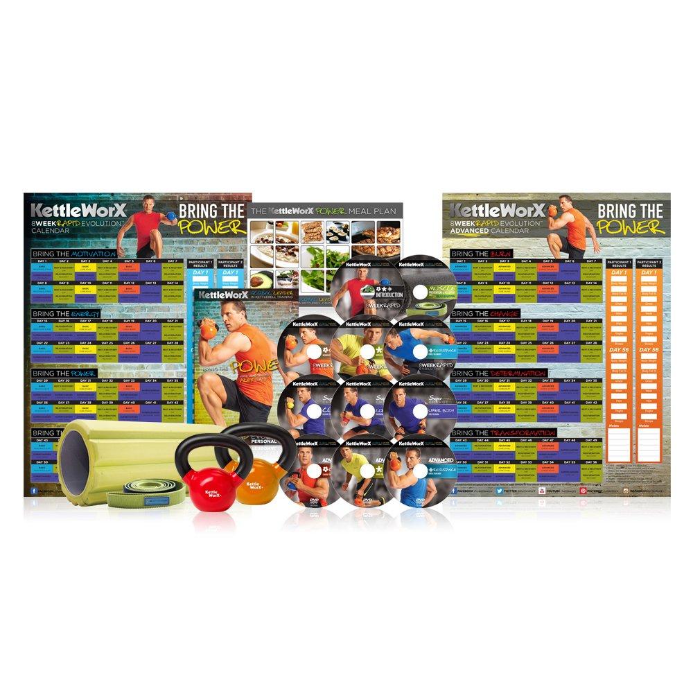 KettleWorx Power Pro 8 Woche Rapid Evolution Kettlebell Gewicht