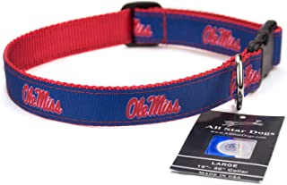product image for All Star Dogs Mississippi Rebels Ribbon Dog Collar