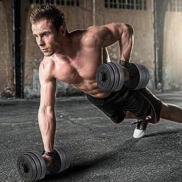 CrazyLynX - Juego de pesas para gimnasio y fitness, 20KG: Amazon.es: Deportes y aire libre