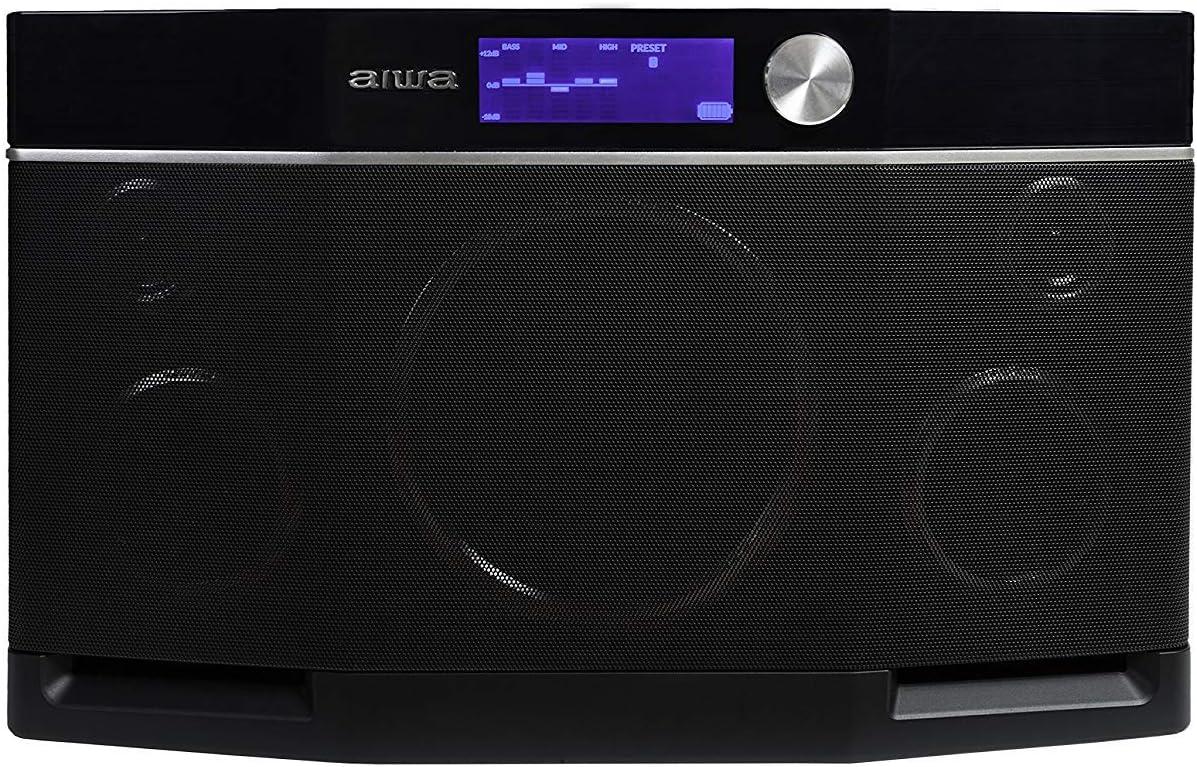 Aiwa Exos-9 Altavoz Bluetooth, subwoofer de 6.5, sonido estéreo, música alta sin distorsión, altavoz inalámbrico, conector NFC, ecualizador gráfico, 9 horas de reproducción: Amazon.es: Electrónica