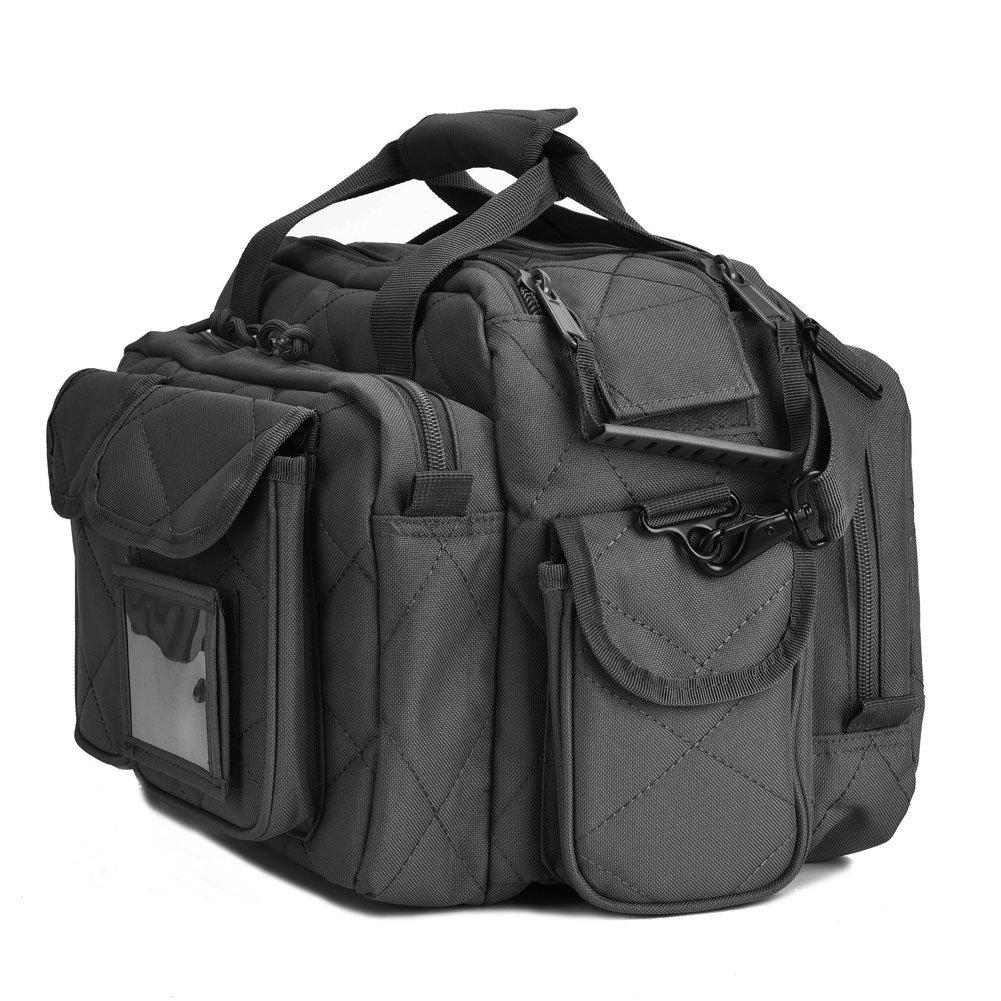 REEBOW TACTICAL Tactical Gun Range Bag Deluxe Pistol Shooting Range Duffle Bags Black by REEBOW TACTICAL (Image #3)