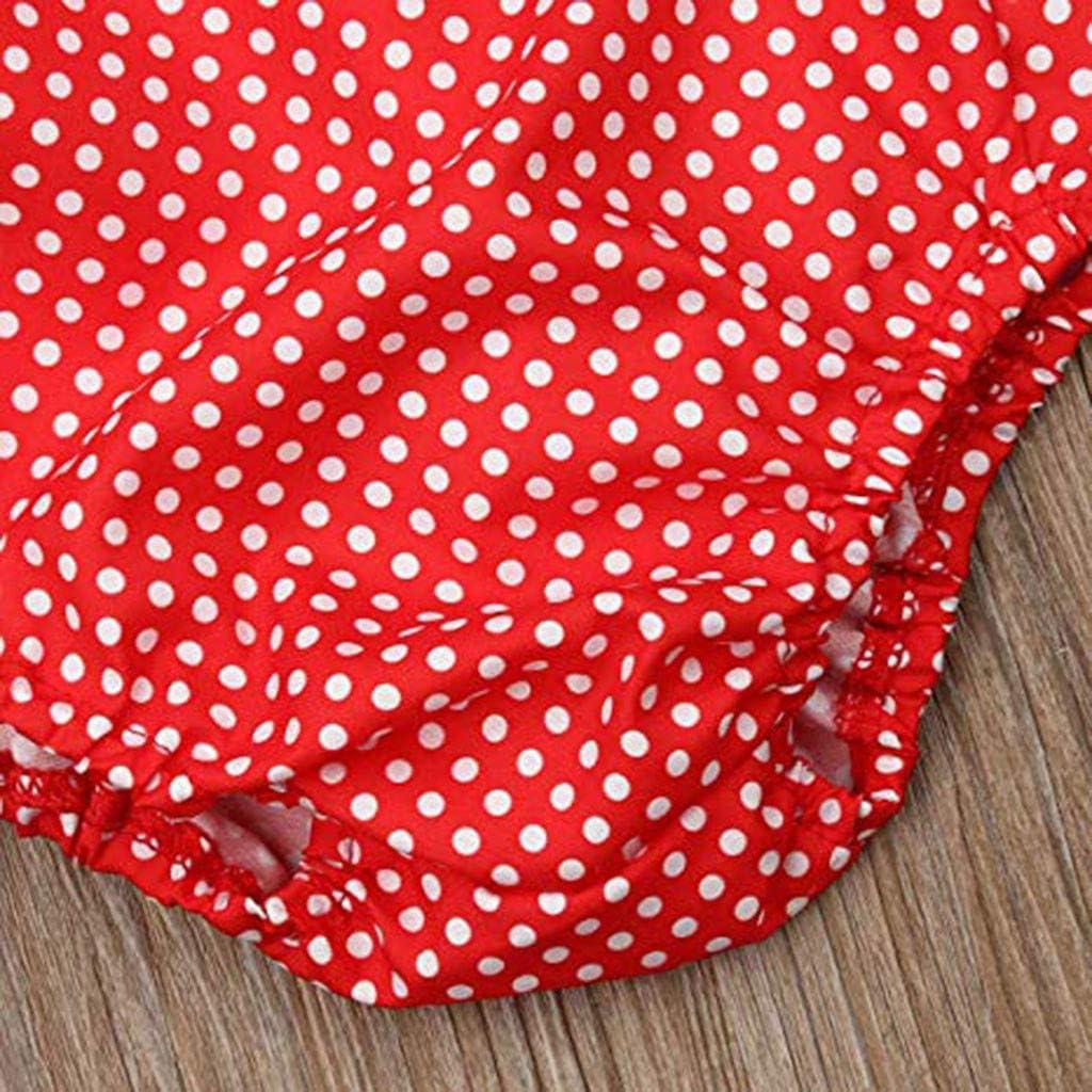 Stirnband Set Polka Dot Hei/ßpr/ägen Baby M/ädchen Kleidung Prinzessin Sommer Party Spielanzug Strampler Bodys Einteiler(3M-24M) ❤❤JiaMeng Baby Body M/ädchen Outfits Kleidung Dot R/üschen Strampler Body