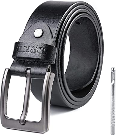 Classic Leather belt for men Black smooth leather Men/'s belts Italian buckle PREMIUM COLLECTION!