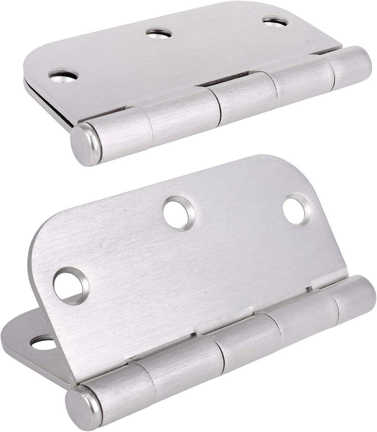 Y/&Y Decor Satin Nickel 3.5 x 3.5 Door Hinges with 5//8 Radius Corners Brushed Nickel 50 Pack