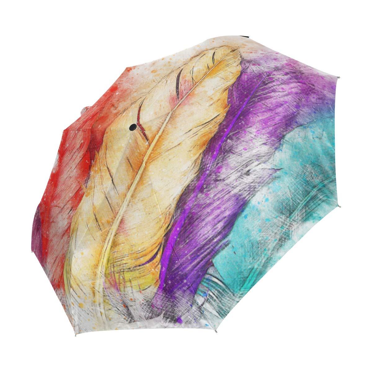 ff5601d2c9ef Amazon.com : LUCASE LEMON ALEX Colorful Feather Compact Travel ...
