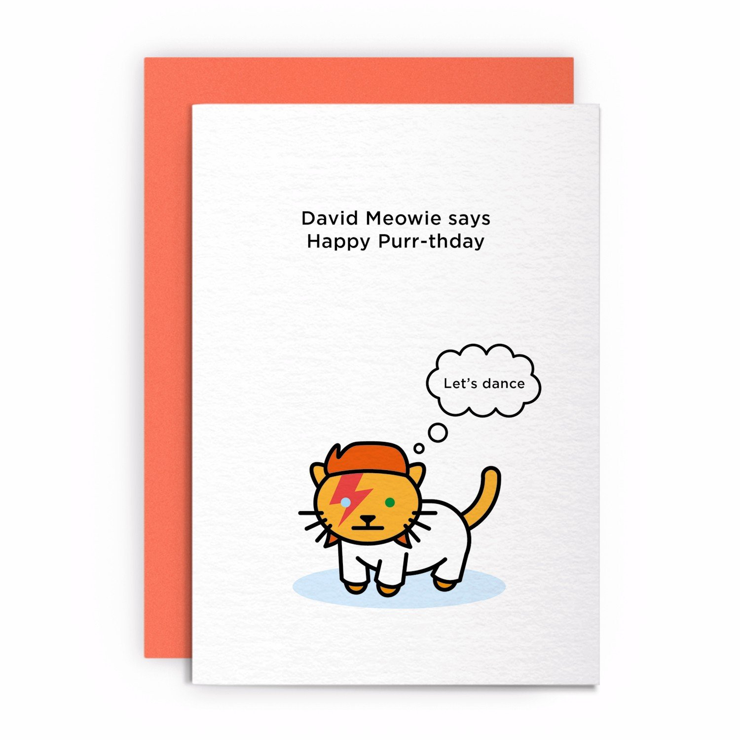 Cat Funny Rude Humorous LETS DANCE Birthday Card Greeting Card