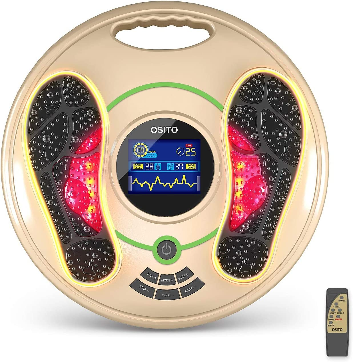 Foot Massager Machine - Electric Foot Circulation Devices (Foot Stimulator Devices) - Reduce Swelling Feet and Legs