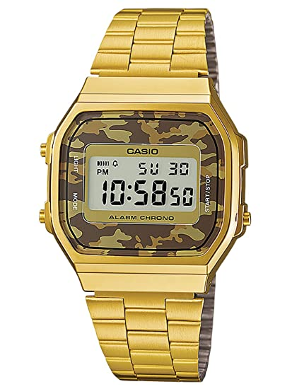 704f4d2efcf1 Casio Reloj de Pulsera A168WEGC-5EF  Amazon.es  Relojes