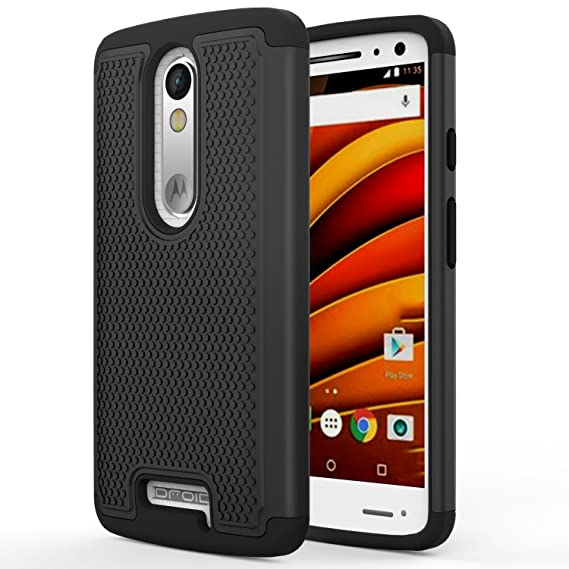 Droid Turbo 2 Case, MoKo [Shock Absorption] Slim Dual Layer Protective Case with