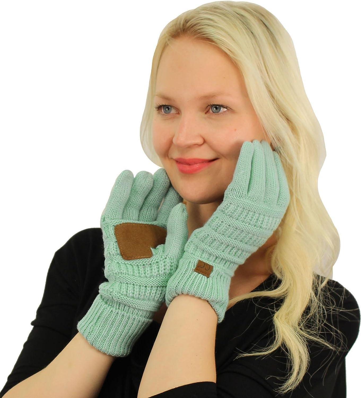 Winter CC Quad Touch Screen Smart Cellphone Finger Tips Warm Soft Gloves