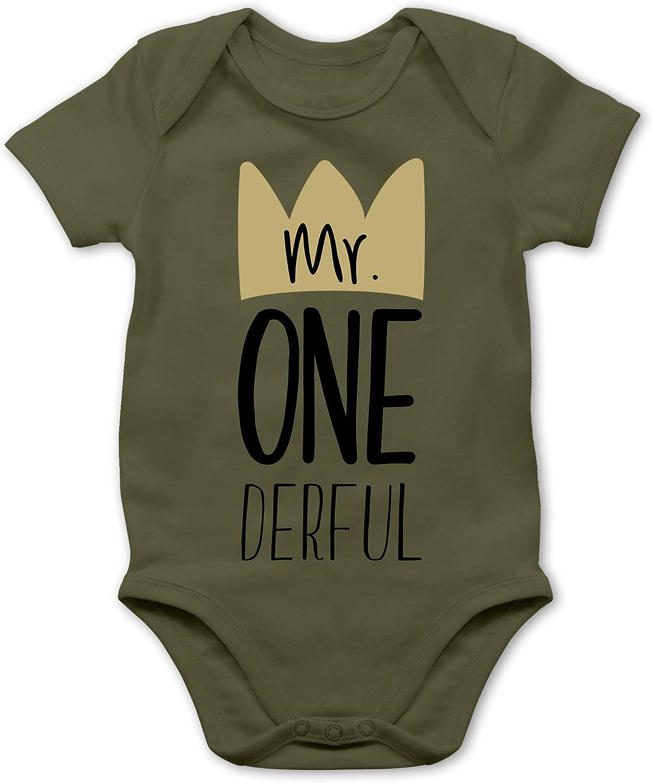 Geburtstag Baby Baby Body Kurzarm f/ür Jungen und M/ädchen Shirtracer Mr One Derful