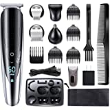 Hatteker Mens Hair Clipper Beard Trimmer Grooming kit Hair trimmer Mustache trimmer Body groomer Trimmer for Nose Ear…