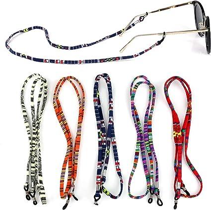 Jurxy 6 St/ück Brillenkette Grobe Baumwolle Brillen Kette Sport Brillenb/änder in Ketten Brillen Hals Schnur Gl/äser Band Brille Cords f/ür Damen Geschenk