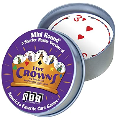 Five Crowns Mini Round Card Game: Toys & Games