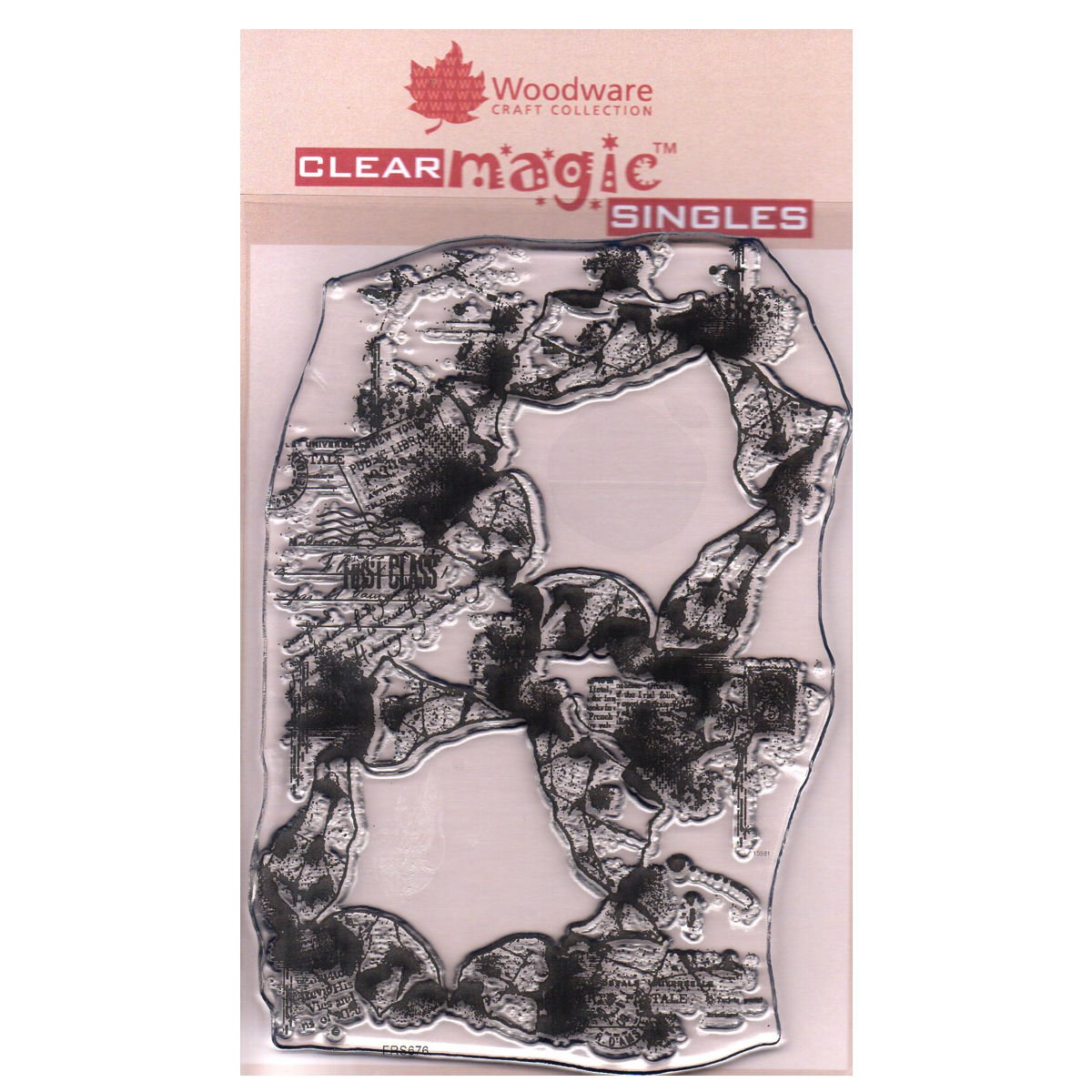 Woodware A6 Clear Cling Stamps - FRS676 Torn Paper Frames by WoodWare