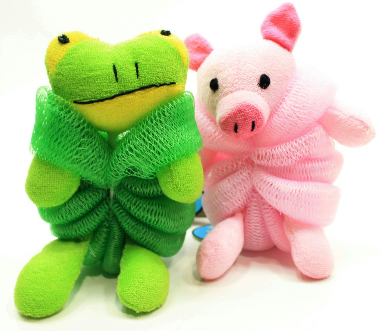 Amazon.com: Kids Mesh Sponge Bath and Shower Loofah Pig and Frog: Beauty