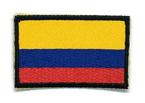 Parche para planchar con la bandera de Colombia bordado, tamaño mediano. Pasa ...