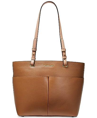 06f3f1af660a Amazon.com: Michael Kors Bedford Pebble Leather Pocket Tote (Acorn): Shoes