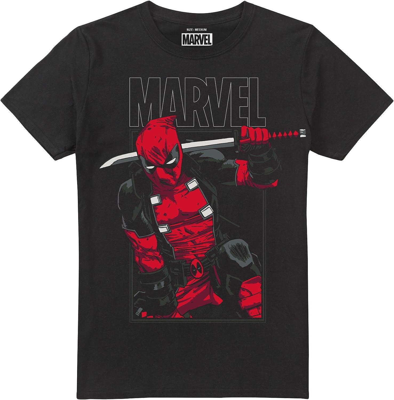 Marvel Deadpool Sword Camiseta para Hombre
