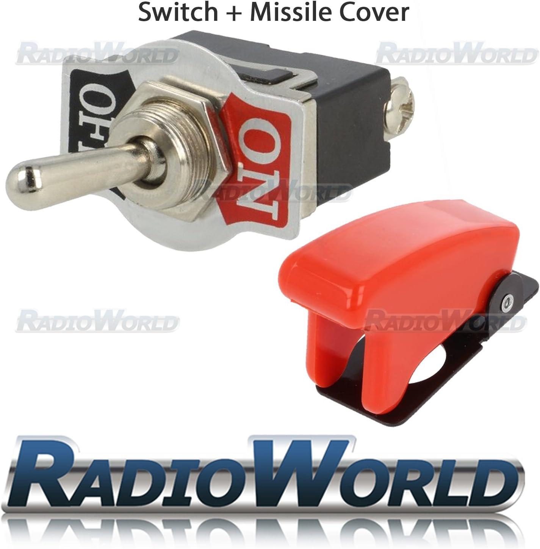 12V ON//OFF 2 Position SPST Toggle Flick Switch Metal for Car Dash Light
