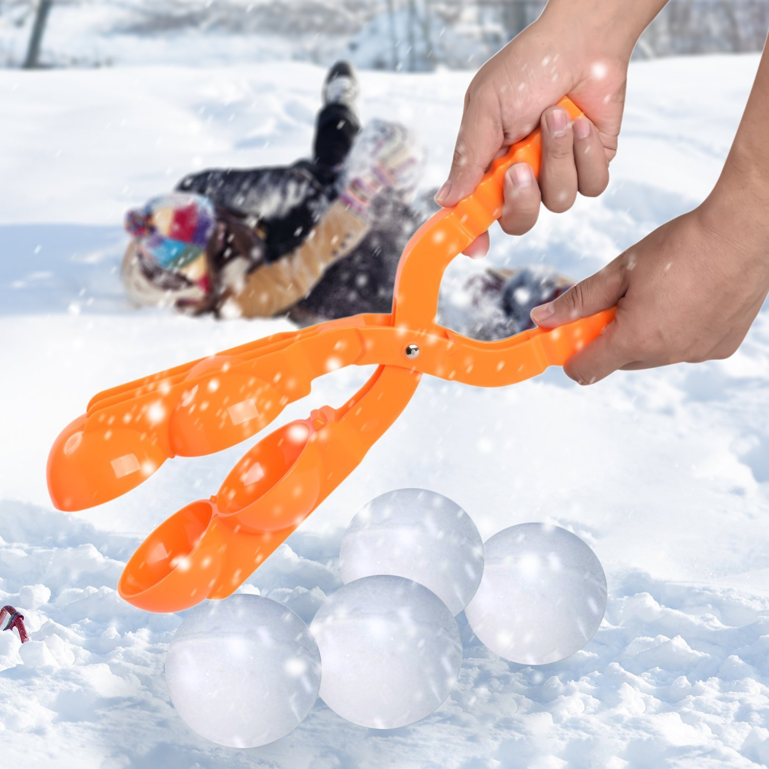 CWLAKON Two Snowball Makers,Perfect Outdoor Play Snow Toys for Kids,Two Balls Let You Make Snowballs Quickly(Random 2 Colors) by CWLAKON (Image #5)