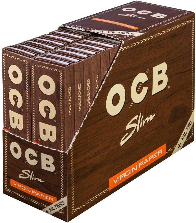 OCB 2300 - Juego de 32 librillos para Tabaco de Liar (Papel Largo, 32 filtros sin blanquear): Amazon.es: Salud y cuidado personal