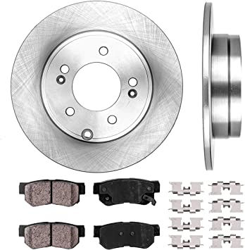 Front 300 mm And Rear 283 mm Brake Disc Rotors /& Ceramic Pads Set For