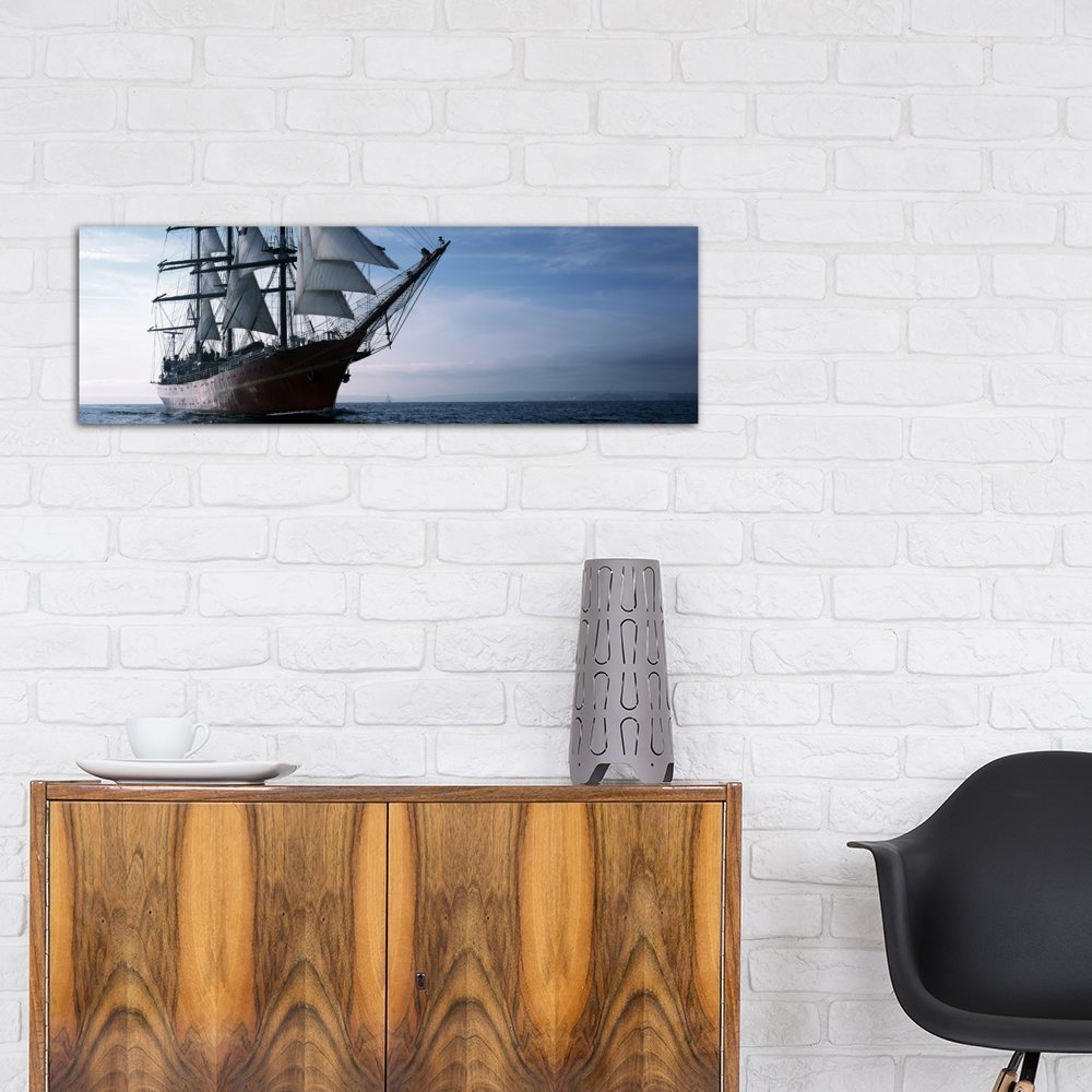 France Canvas Print by Panoramic Images Baie De Douarnenez Finistere iCanvasART 3 Piece Tall Ships Race in The Ocean Brittany 48 x 16//1.5 Deep