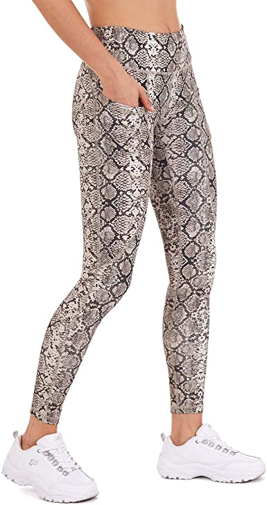 Only Faith Women Fashion Leopard Print Cropped Pencil Pants Tights Leggings