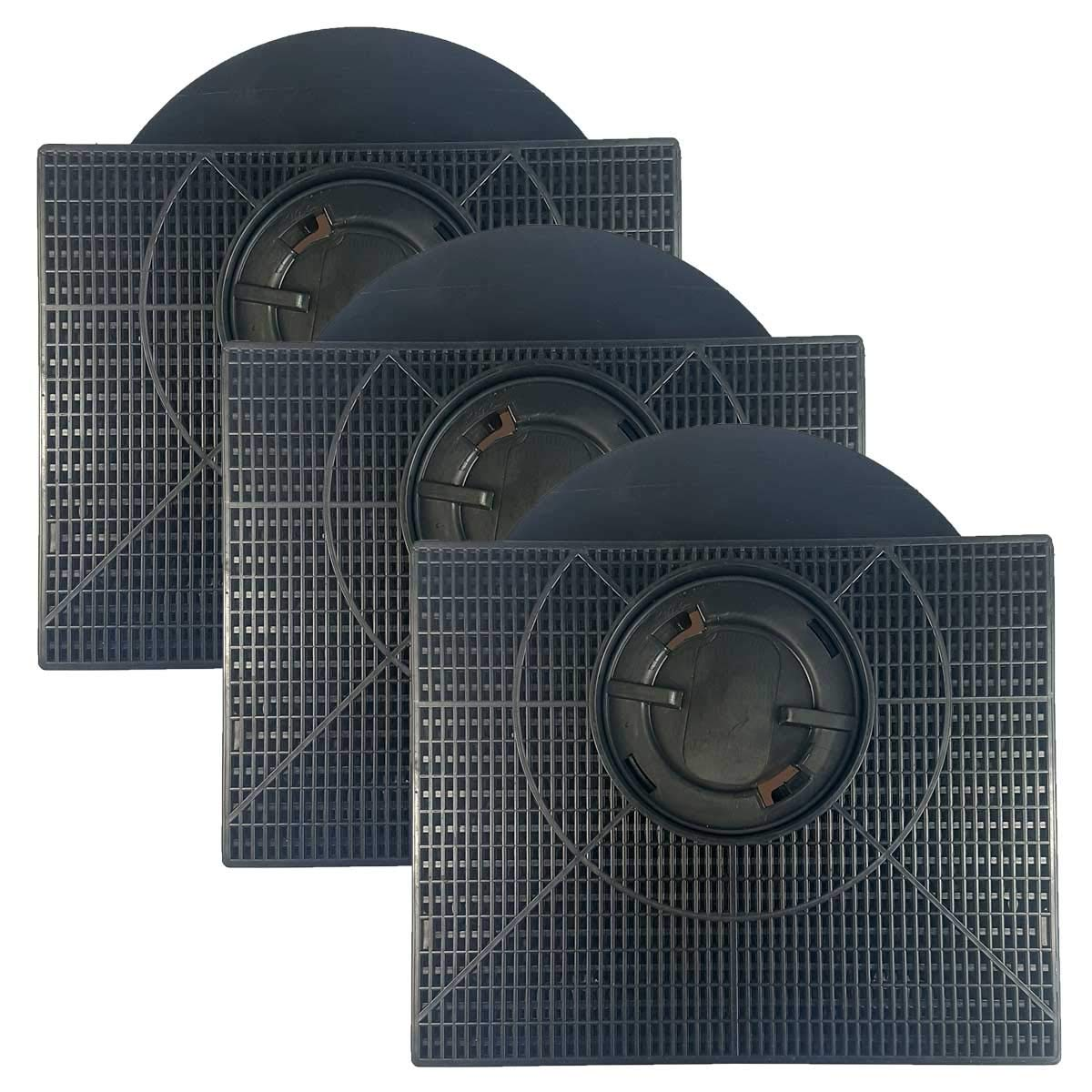 3x Filtro de cappa a Carbone Attivo Originale D303-481281718532 - 484000008581 - CHF303 - Type 303 - NYTTIG FIL 558 - AMC895 / Trattamento Antibatterico. Anti Odore. AC40 KAMP