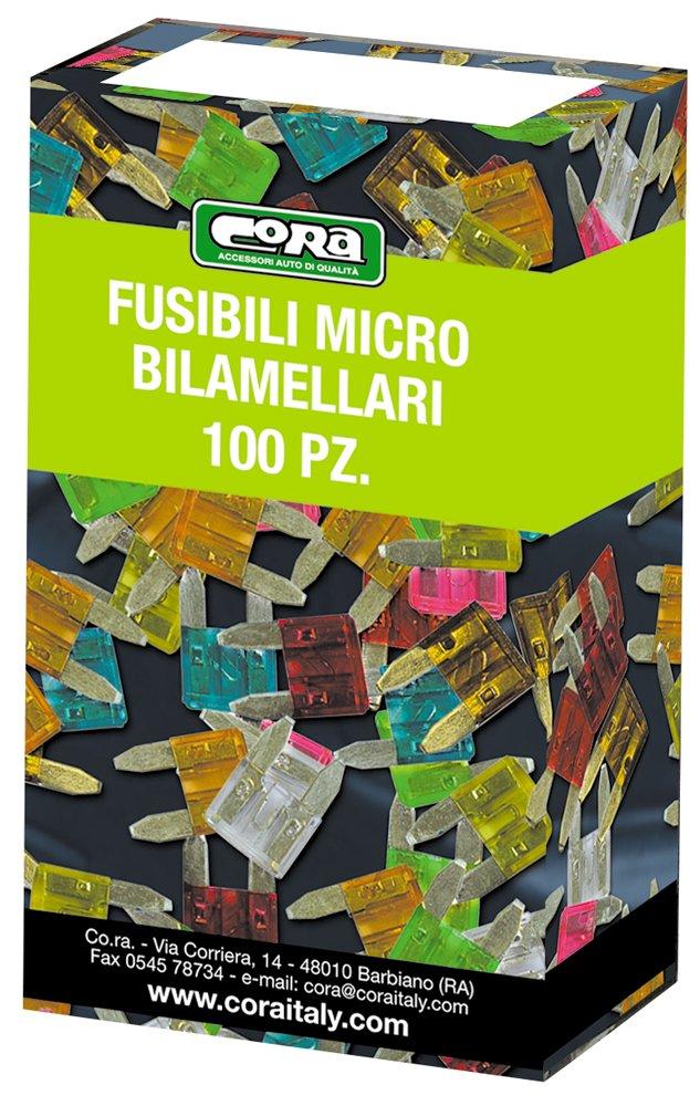 Cora 120698 Micro Fusibili Mini Lamellari Scatola 100 Pezzi