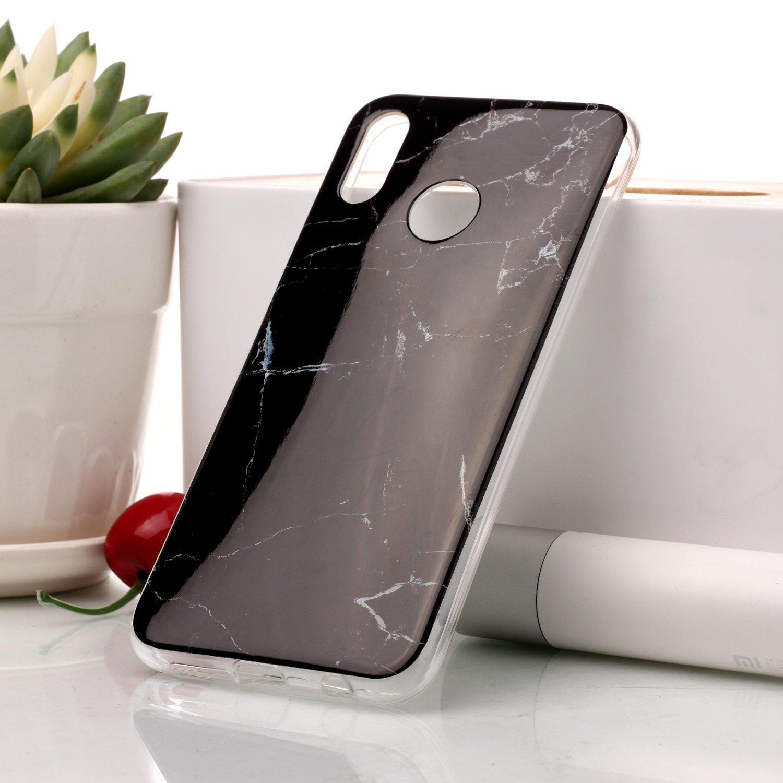 Homikon Silikon H/ülle Marmor Muster TPU Handyh/ülle Ultra D/ünn Matt Weiche Schutzh/ülle Sto/ßd/ämpfend R/ückseite Soft Flexibel Tasche Case Cover Bumper Kompatibel mit Huawei P20 Lite #3