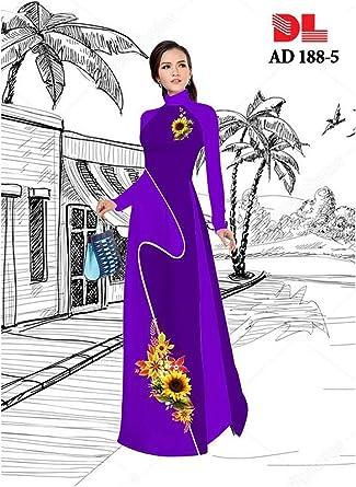 Ao Dai 7109869578415 - Traditional Vietnamese Long Dress ...
